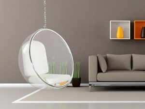 transparent hanging ball chair