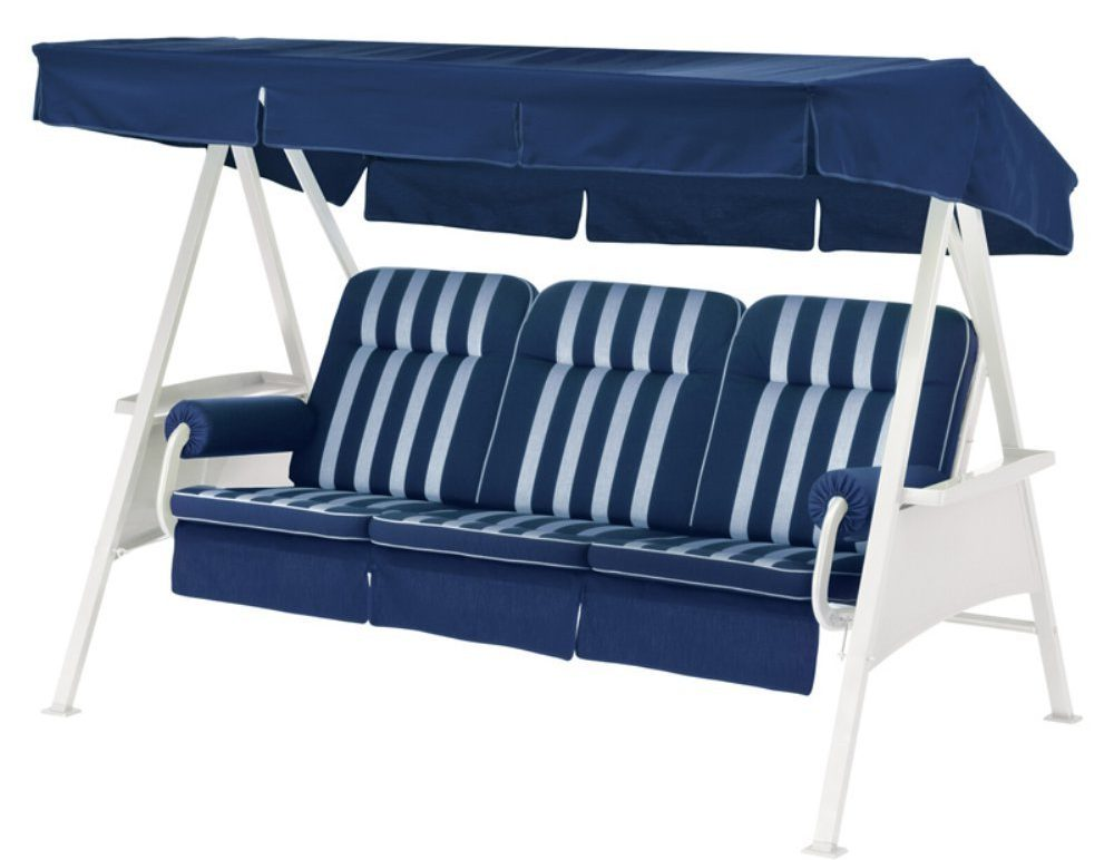 Cushion Bluwe Swing with Canopy