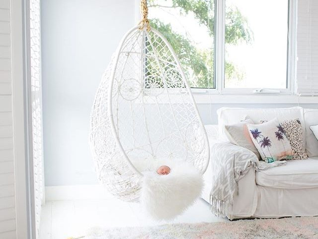 Don T Be Afraid Of A White Hanging Chair For Your Bedroom