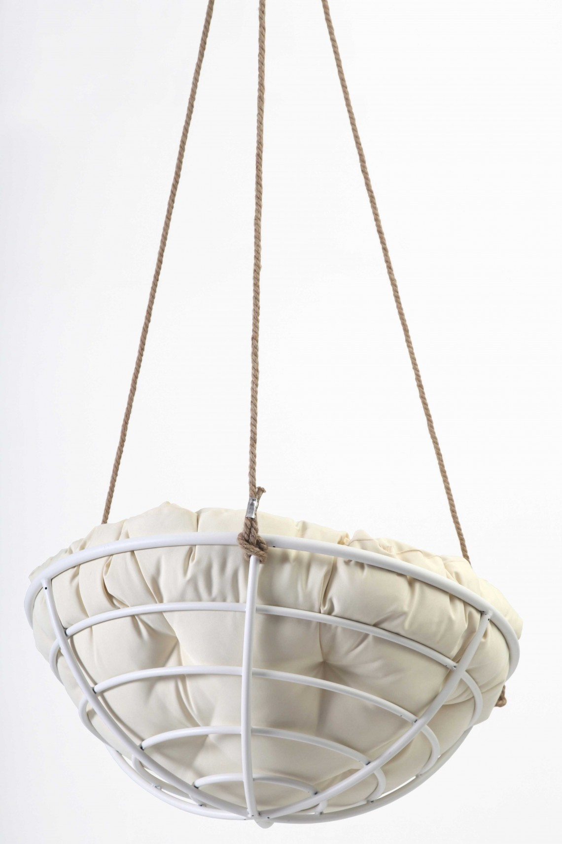Hanging Papasan Chair White