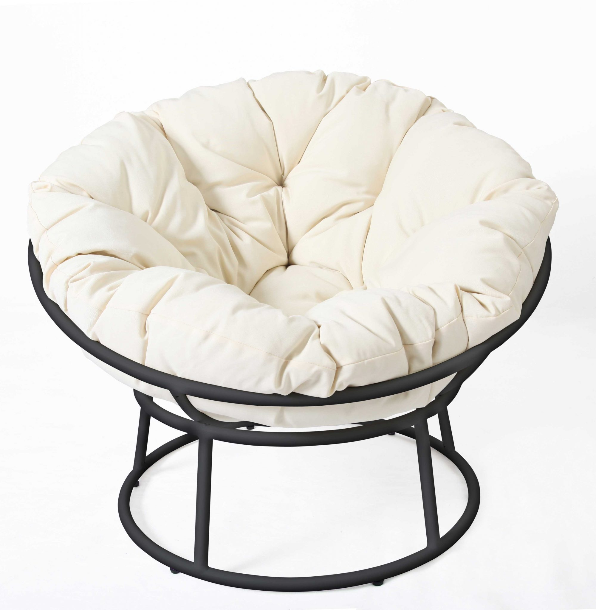 Papasan Chair Black-White