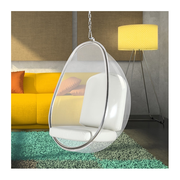 Transparent Hanging Egg Chair