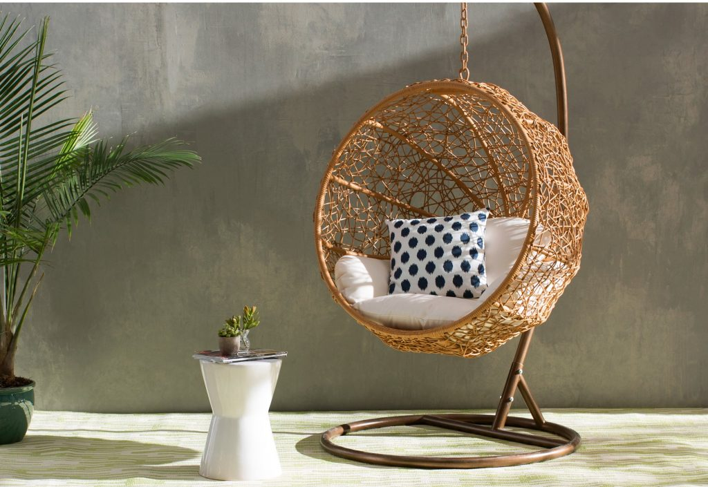 Woven Hanging Basket Chair Round ...