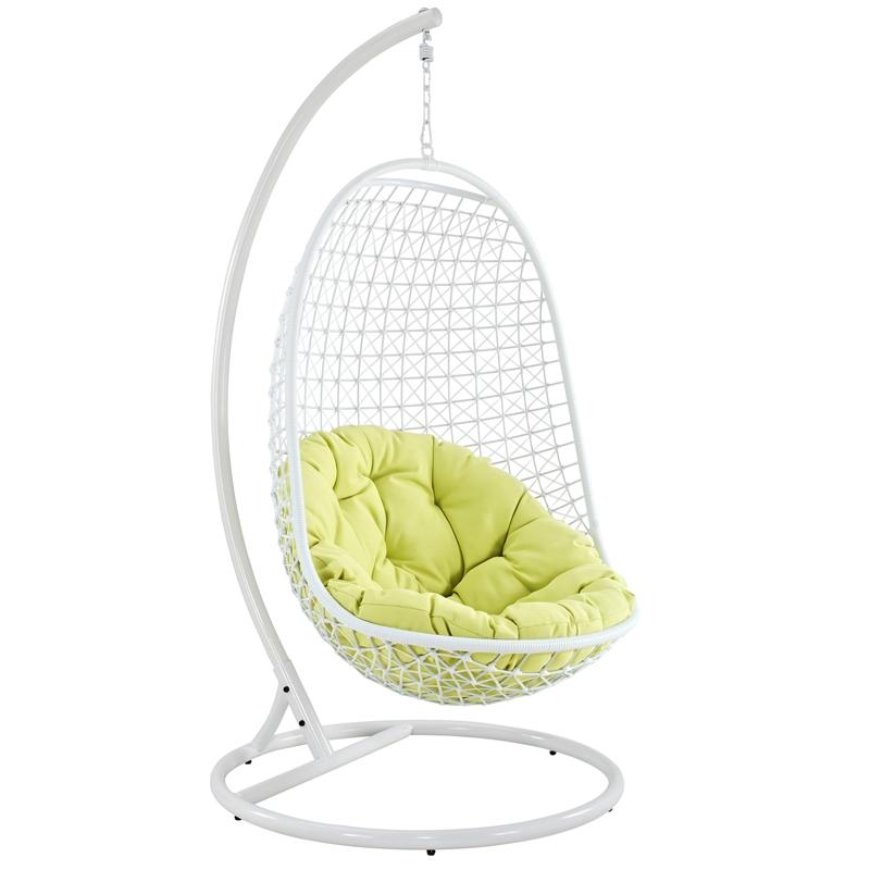 Strange White Swing Chair Egg Shapped Theyellowbook Wood Chair Design Ideas Theyellowbookinfo