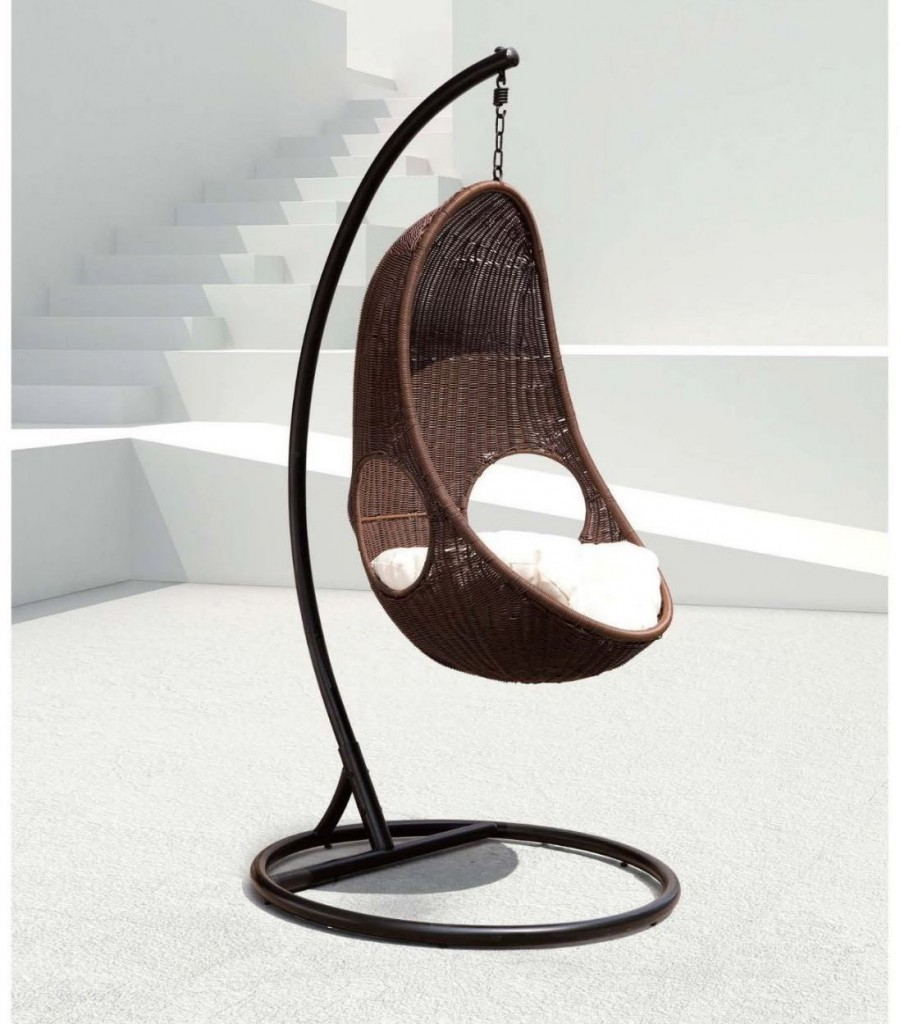 review contemporary fiberglass egg shaped hanging chair. Black Bedroom Furniture Sets. Home Design Ideas