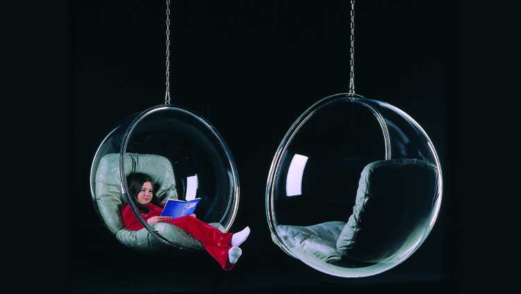 Hanging Ball Chair Transparent - designer hanging chair by eero Aarnio