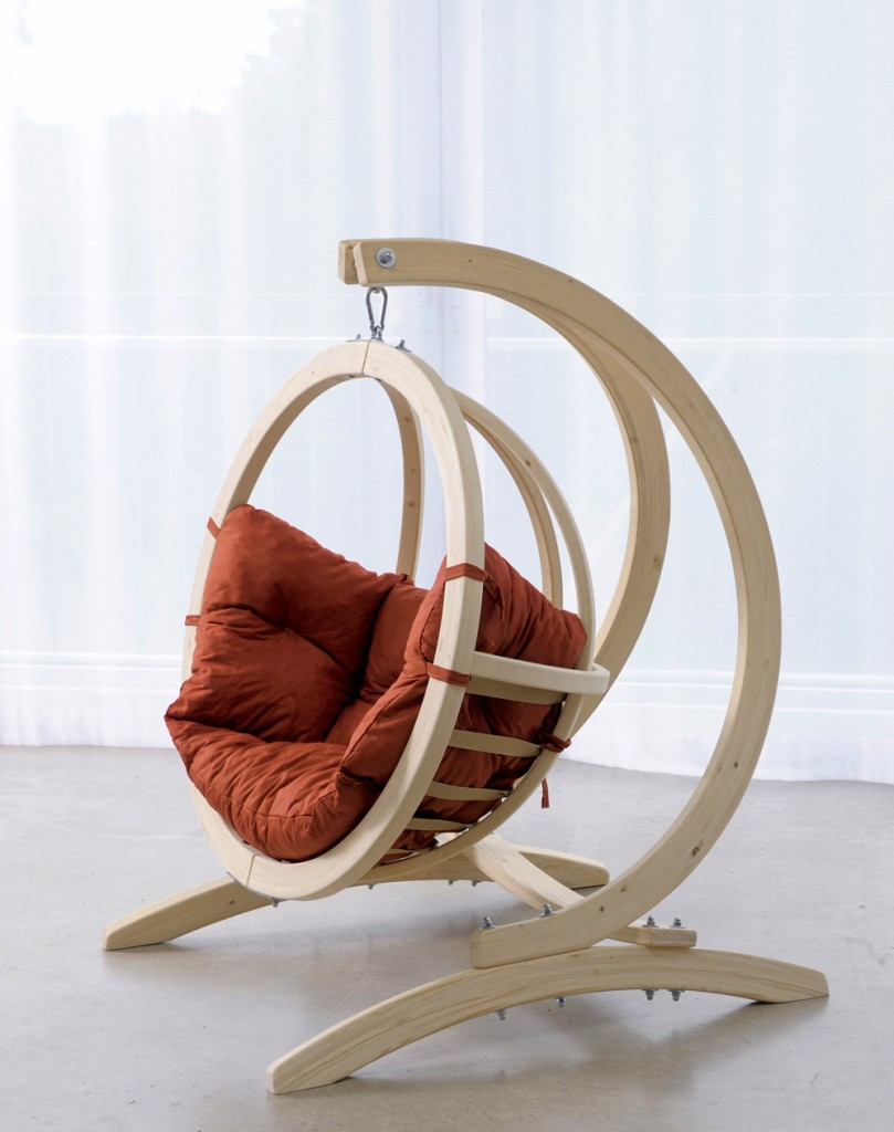Beau Wooden Hanging Chair For Bedroom