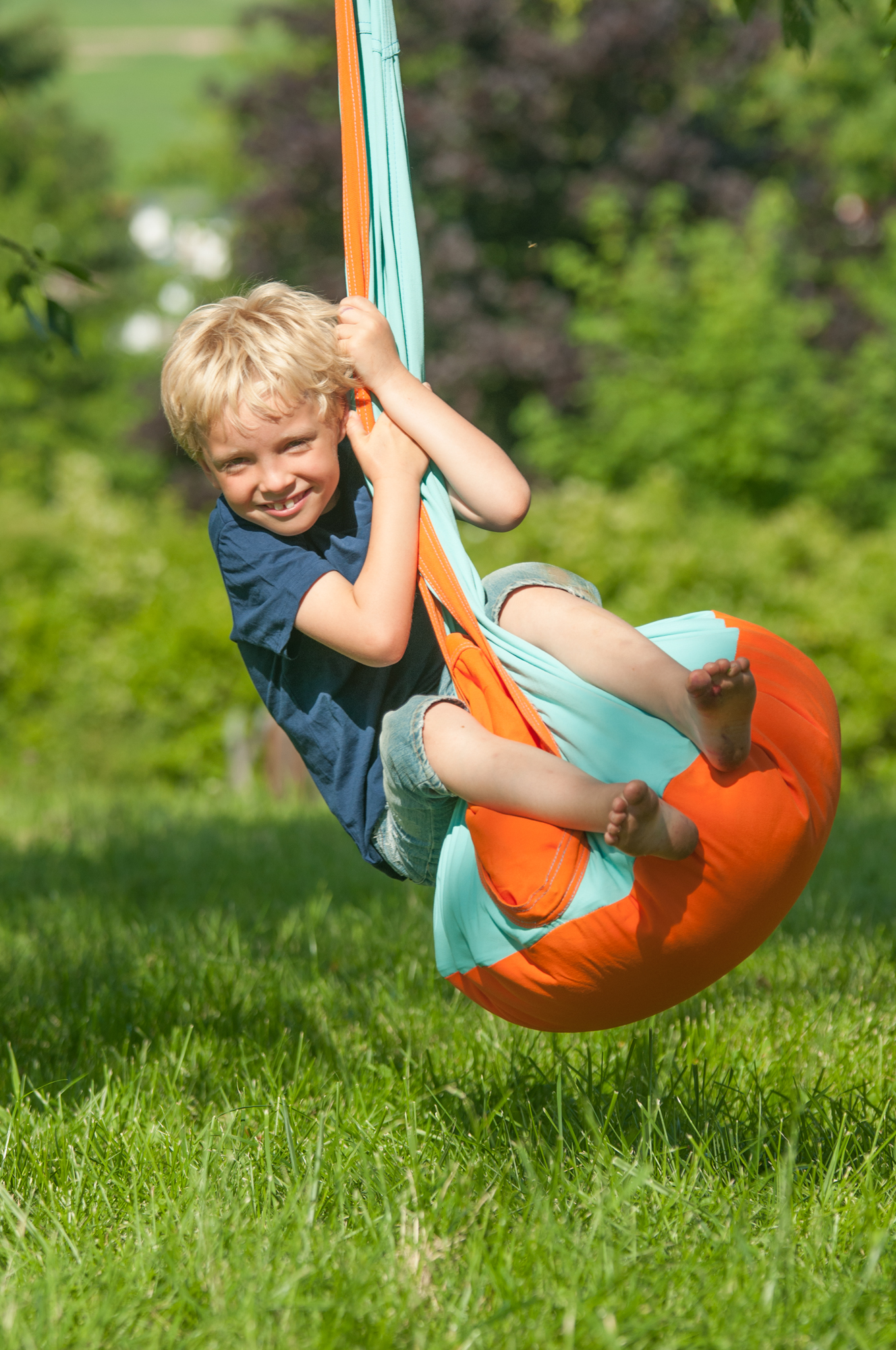 Outdoor Fun with Hanging Chair for Kids