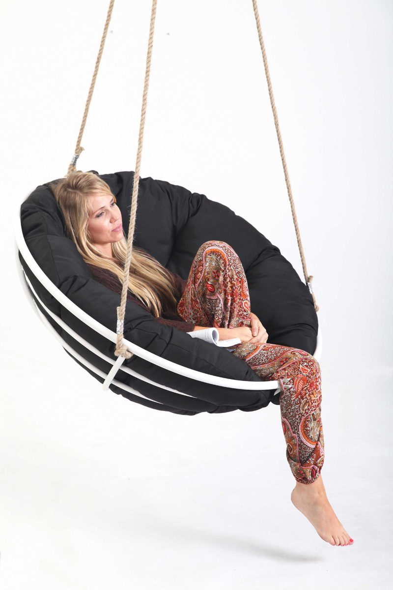 Papasan Swing Black