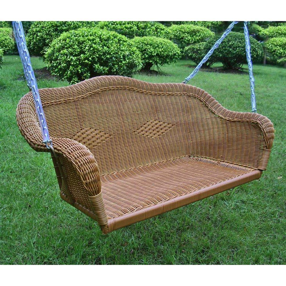 wicker patio swing