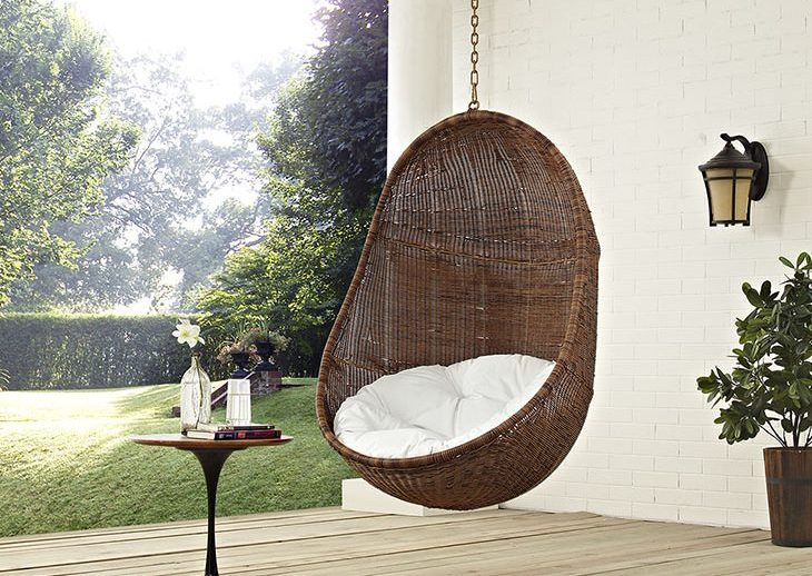 outdoor patio egg swing without stand