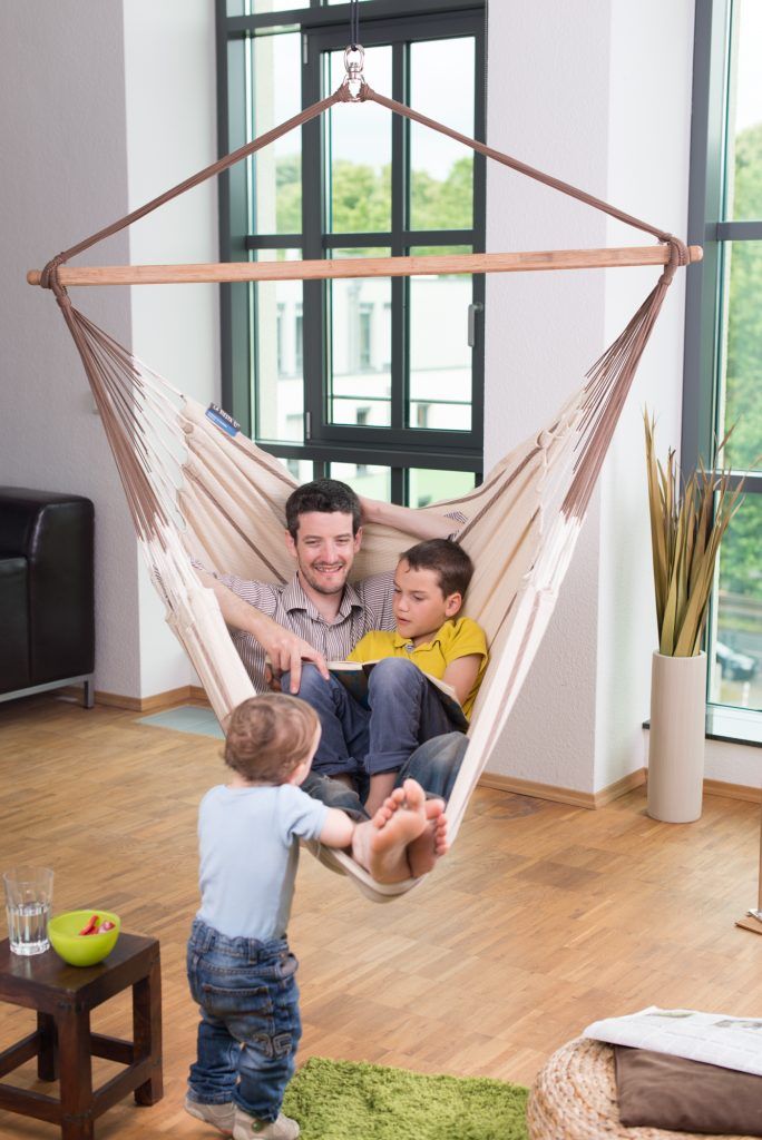 Organic Cotton Hammock Chair Lounger for Two People by La Siesta - Relaxation and Fun for the Whole Family