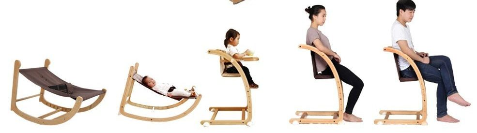 baby swing and high chair combo- wooden