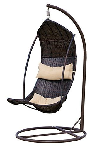 Outdoor Hanging Lounger Chair Wicker All Wather