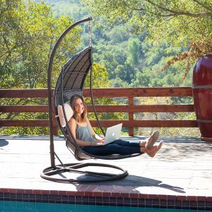hanging chair lounger wicker