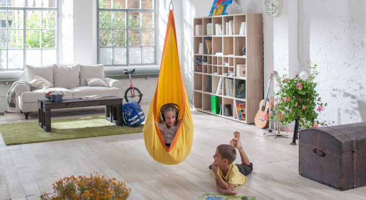 Hanging Nest Chair for Children- Perfect Place for Listening to Music