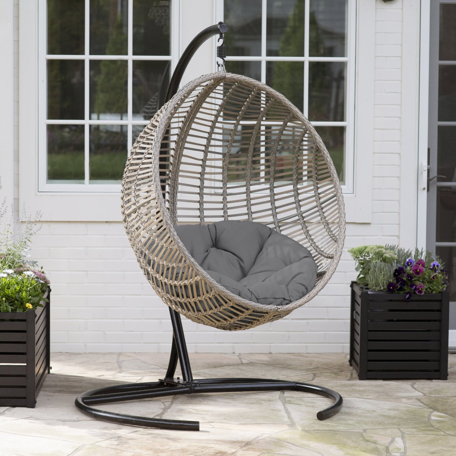 Outdoor Swing Chair with Stand by Island Bay