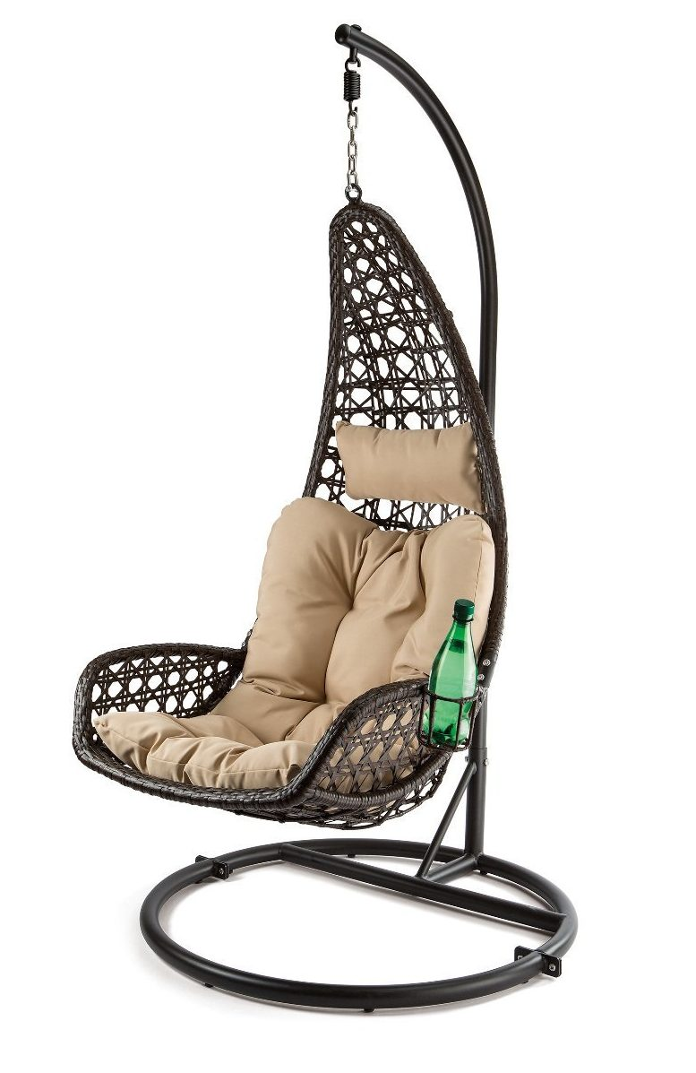 Hanging Swing Chair with Cup Hodler