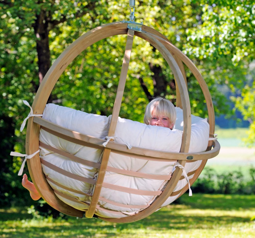 Hanging Round Wooden Chair