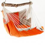 handmade hammock chair in orange