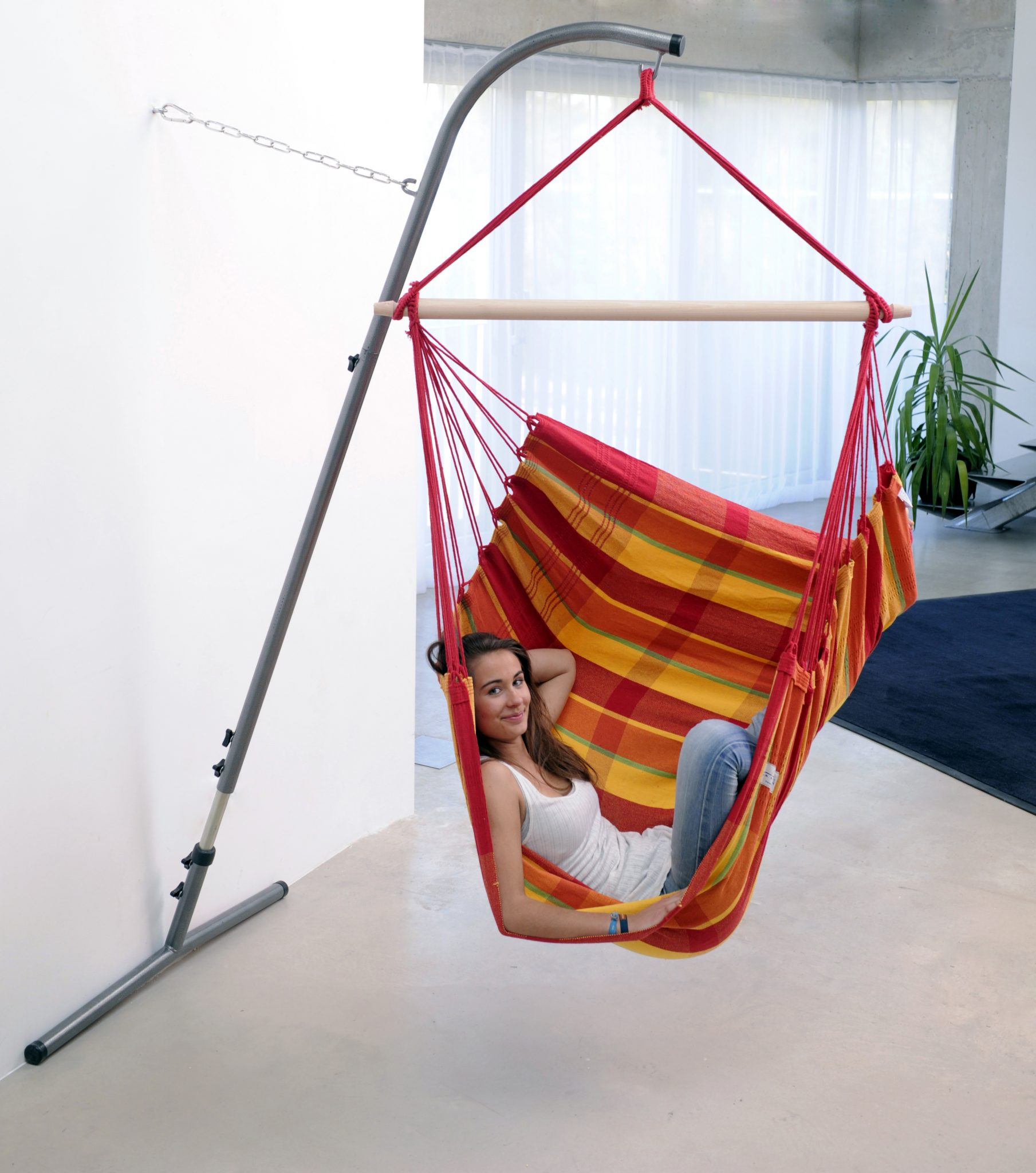 palmera-steel-chair-stand-by-baier-of-maine-Space Saver Hammock Chair Stand by Byer of Maine