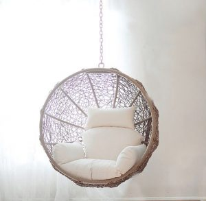 The Basket Is Made Of Synthetic Rattan Which Makes This Chair A Perfect Piece Outdoor Furniture As We Decided To Put It In Our Living Room