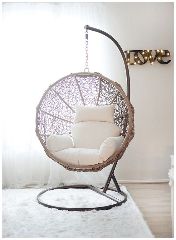 hanging ball wicker chair