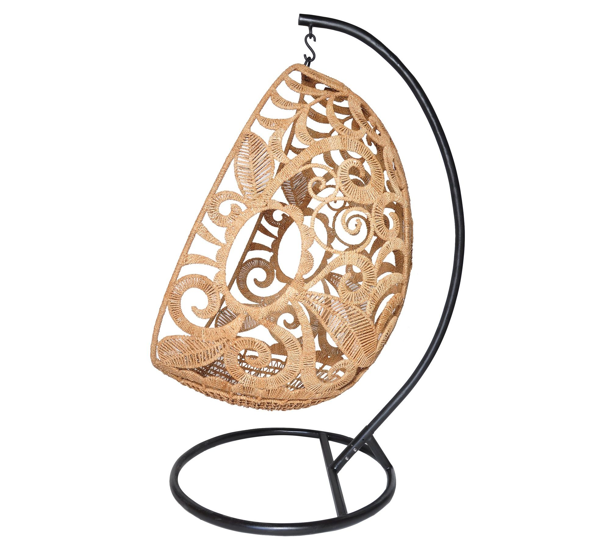 Hand-woven hanging egg swing with stand- by Jo Lisa