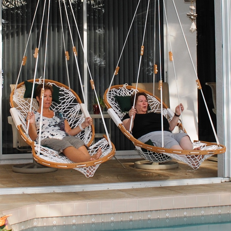 cobble mountain bent oak hanging chairs review  original cobble mountain hanging hammock chairs with footrest  rh   hanging chairs