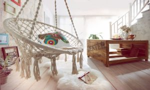 Superbe Macrame Hanging Chair In Your Living Room