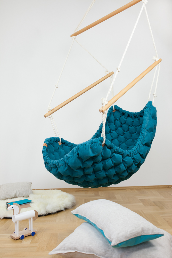 Hand Made Swing Chair Designer- blue by LIV DESIGN