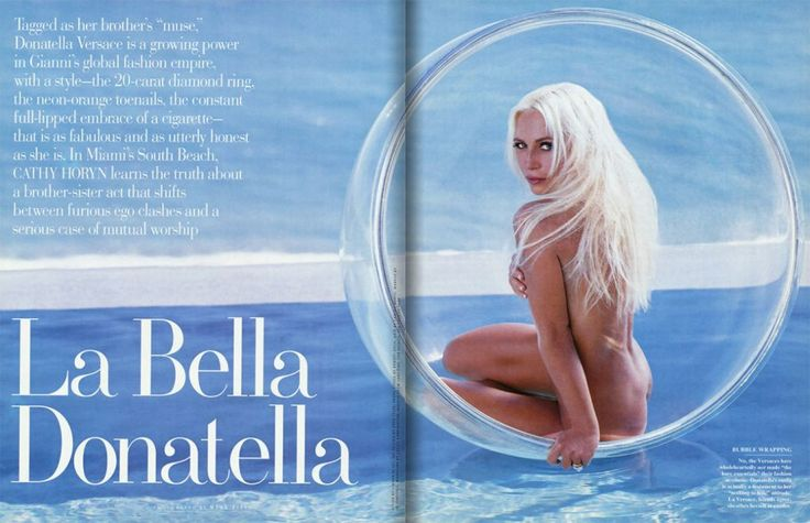 History of Bubble Chairs-Vanity Fair- Donatella Versace