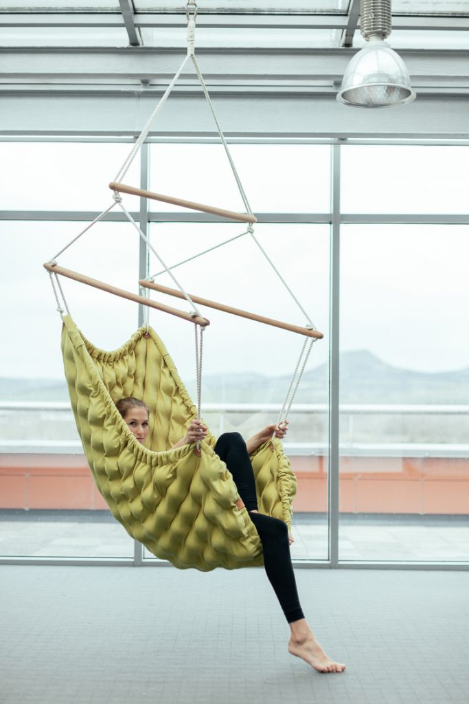 Swingi IN Designer Hammock Chair with massage balls by LIV- Linda Vrnakova