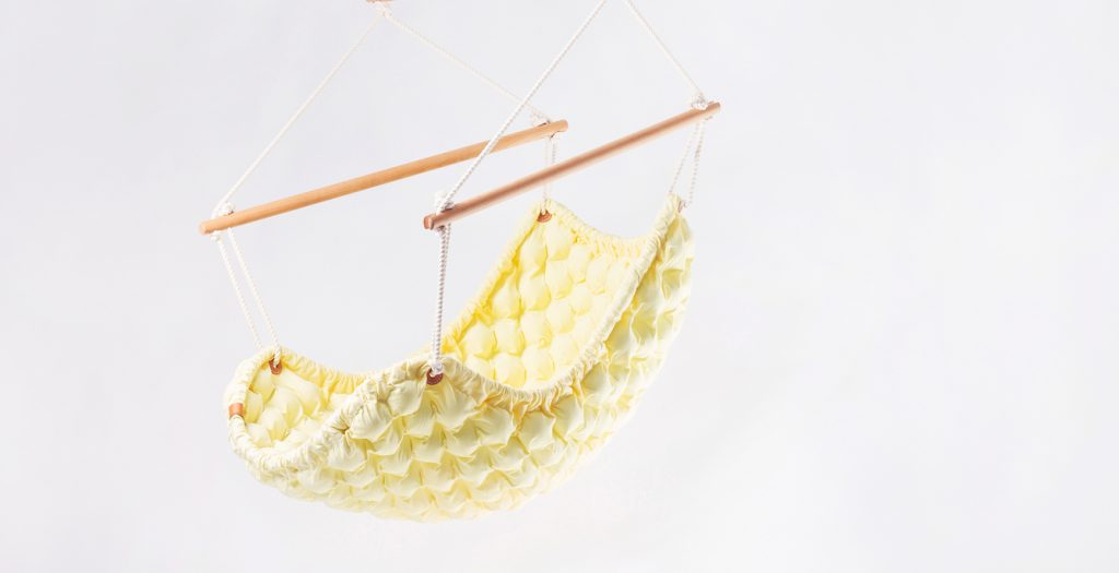 Swingy in- yellow hand made designer hammock chair by LivDesign