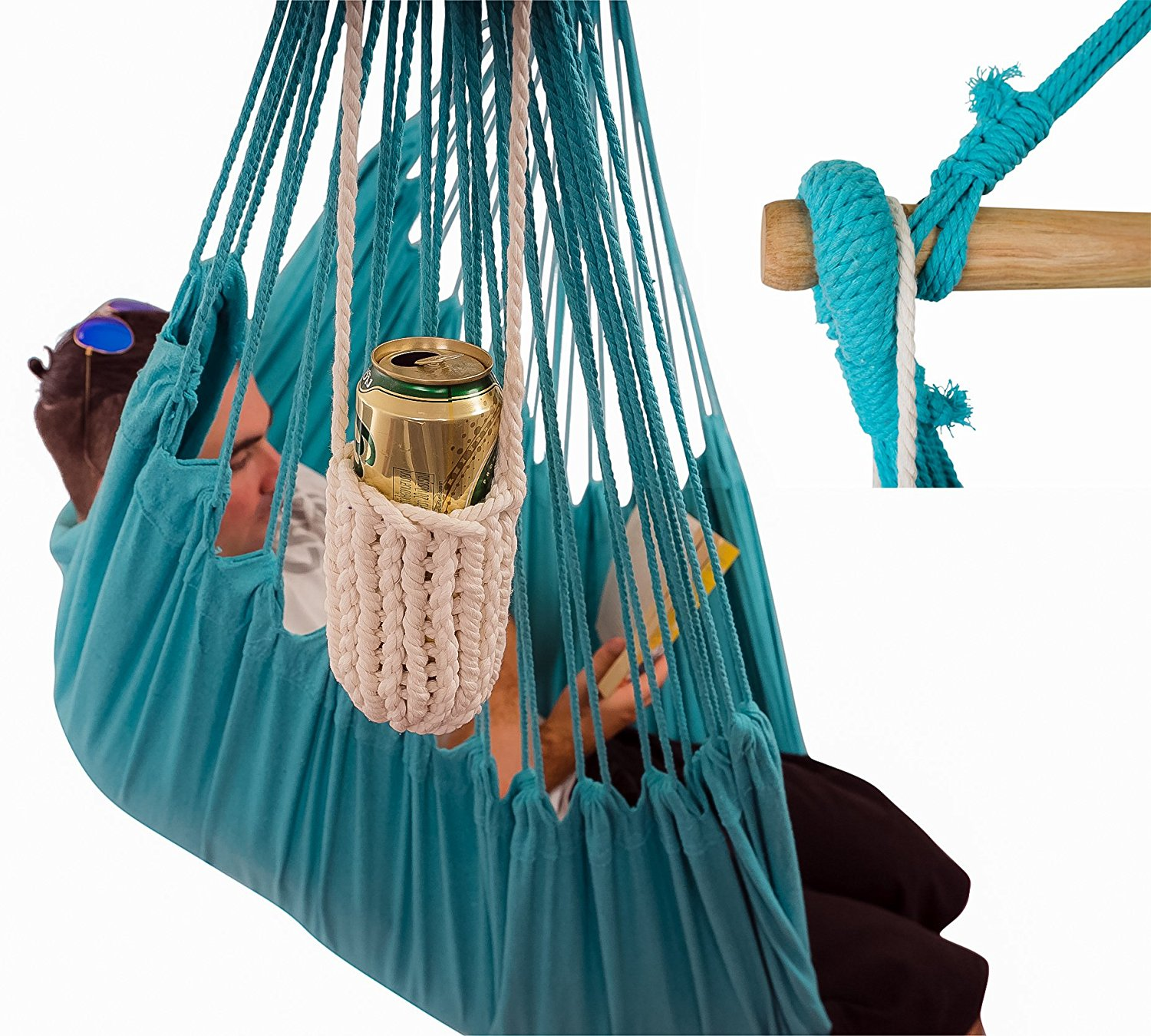 XXL Hammock Chair Two Person Blue