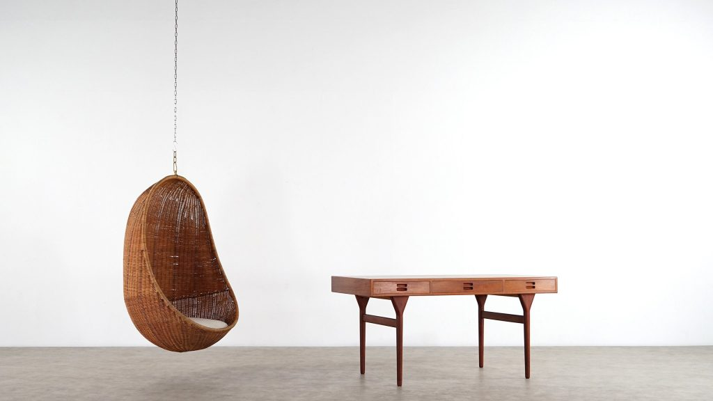The Iconic Hanging Egg Chair by Nanna and Jorgen Ditzel