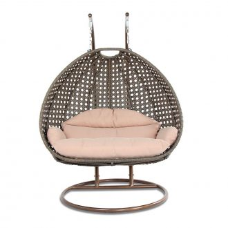 2 Person Wicker Swing Chair With Stand