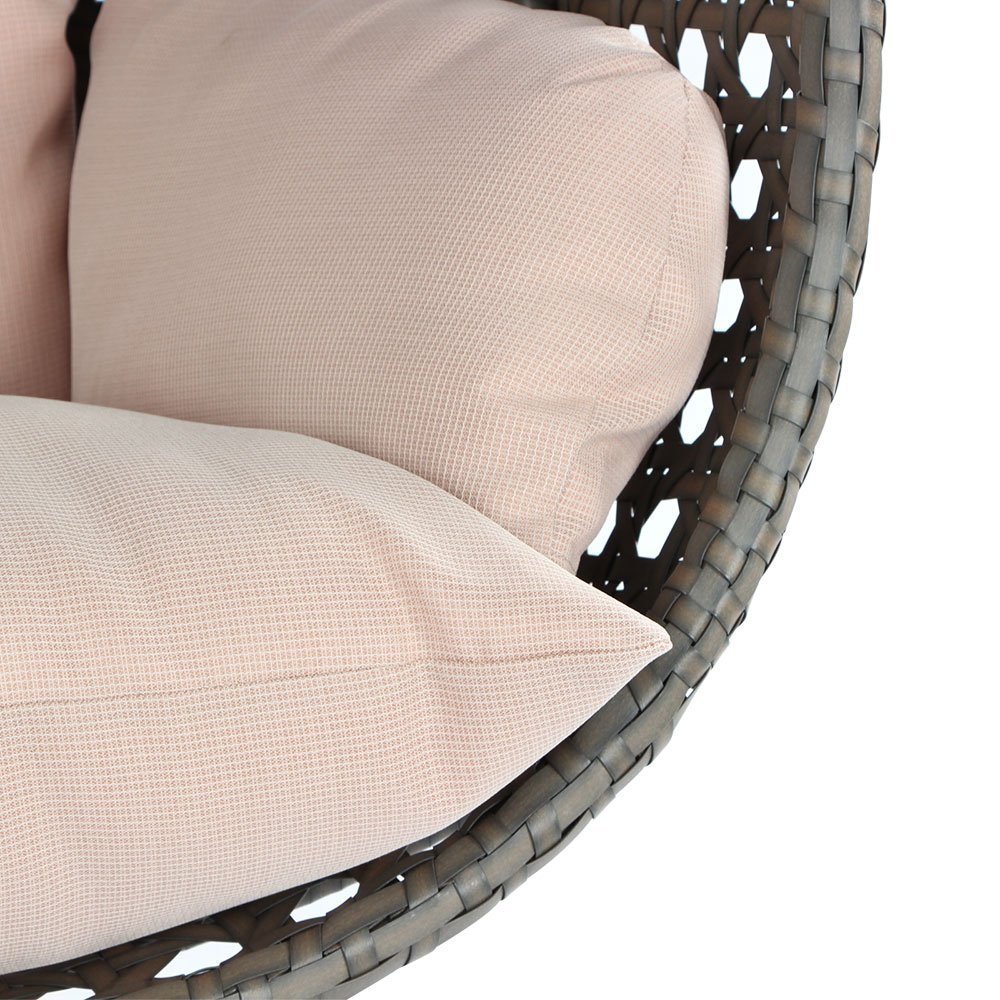 Washable Thick Cushion for a Wicker Swing Chair
