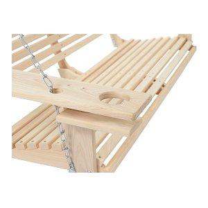 Handmade Cypress Porch Swing.Cupholder