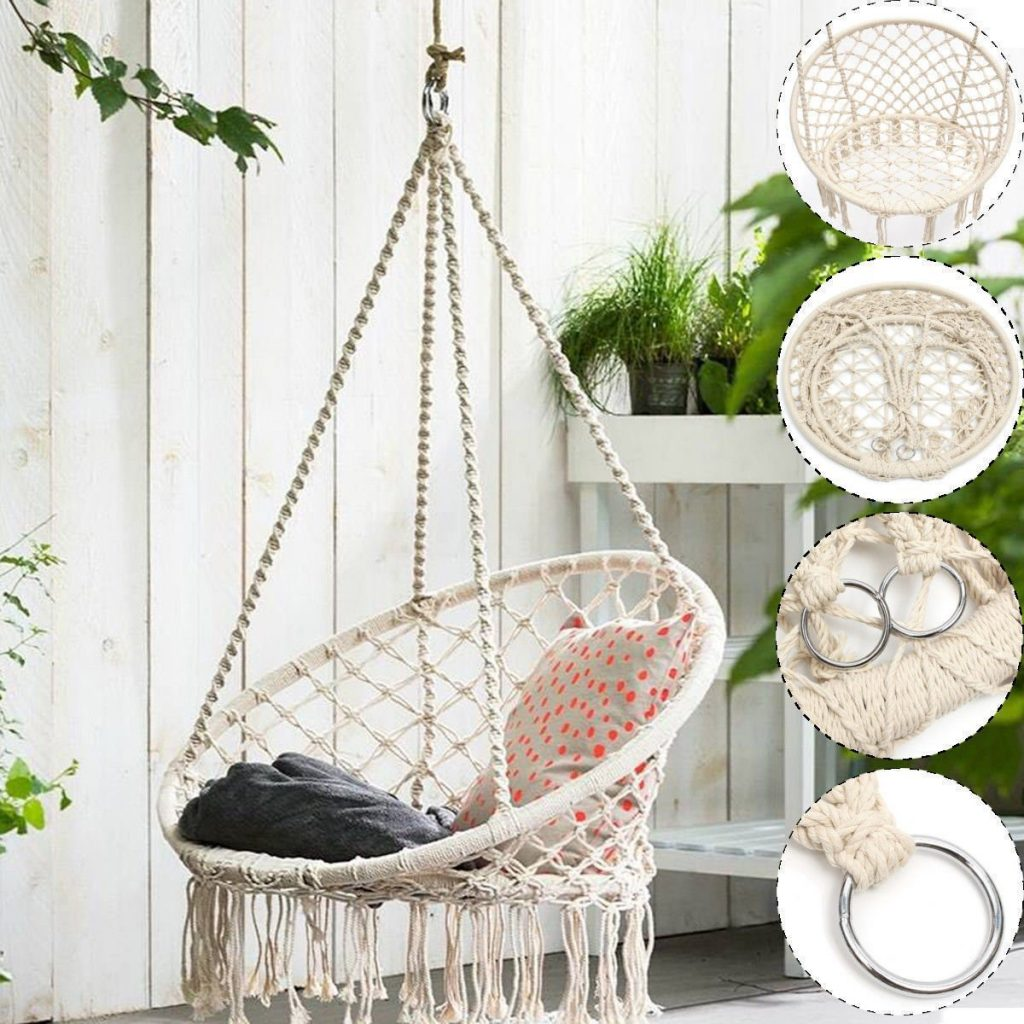 Hanging Cotton Rope macrame hammock chair REVIEW