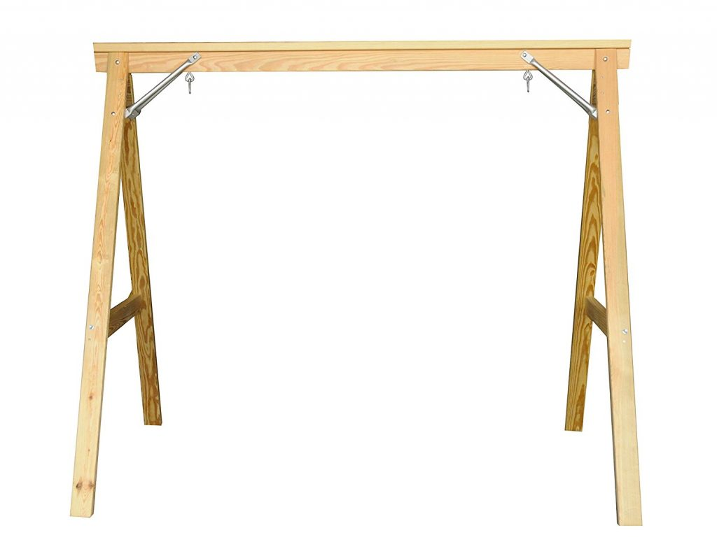 Scandinavian Style Wood Porch Swing Stand for 4ft Swings Made in USA