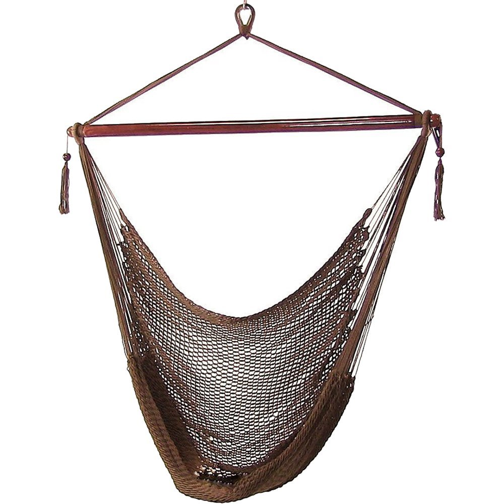 Sunnydaze Hanging Caribbean Extra Large Hammock Chair