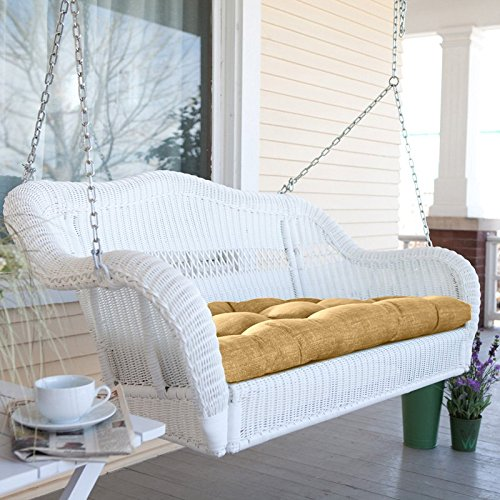White Resin Wicker Porch Swing With Cushion Review Coral Coast
