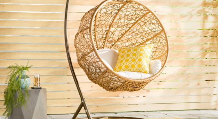 Outdoor Ball Shaped Wicker Swing Chair
