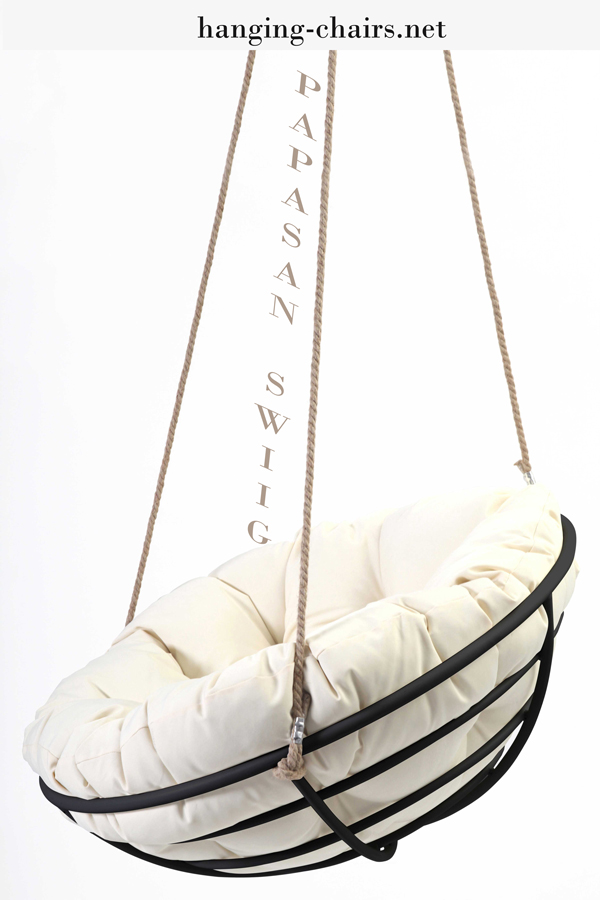Hanging-Papasan-Chair-Black-White-Ropes