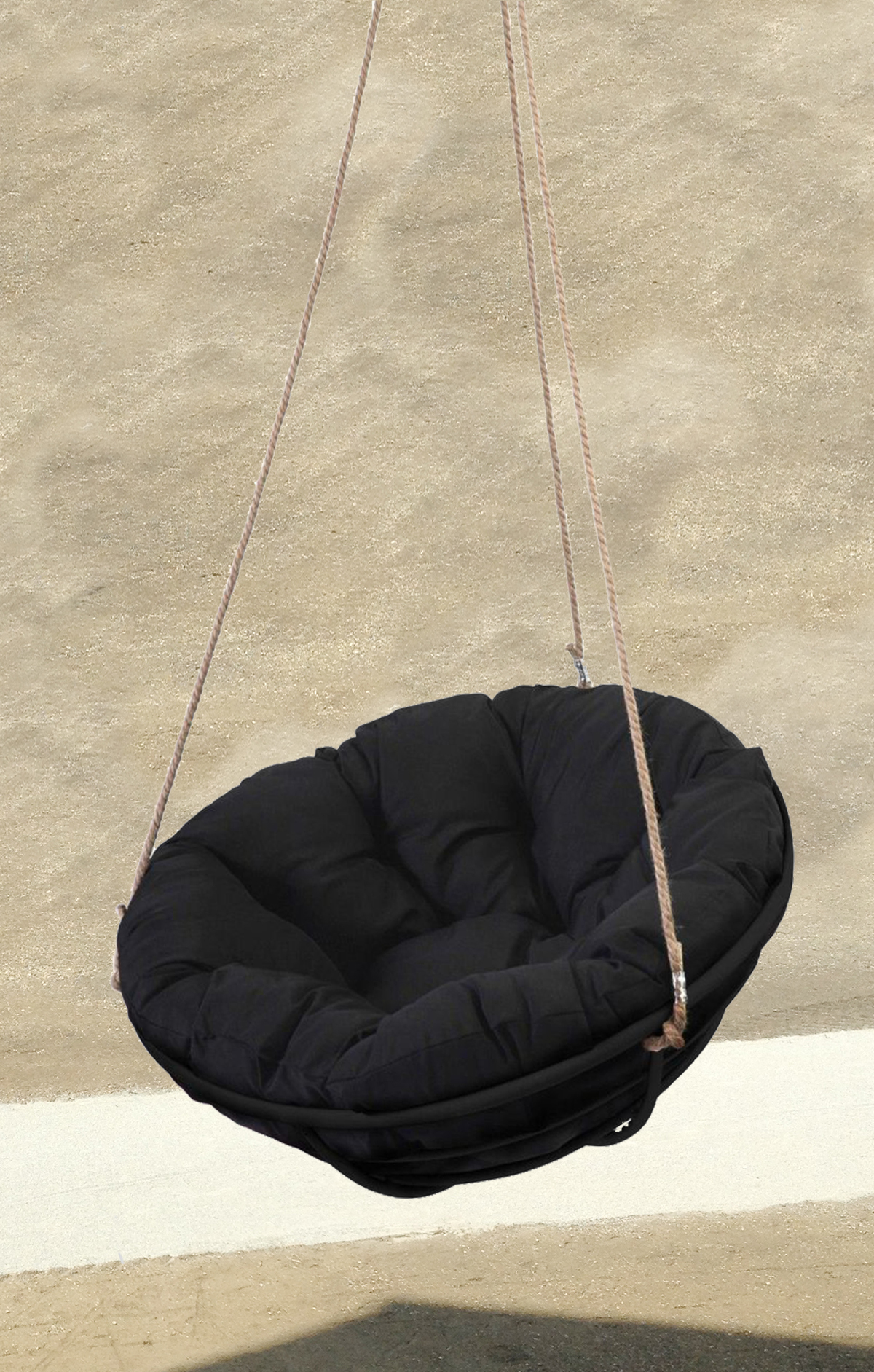 hanging-papasan-chair-black-sand
