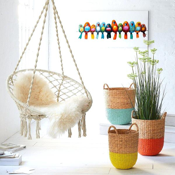 macrame-hanging-chair-living-room