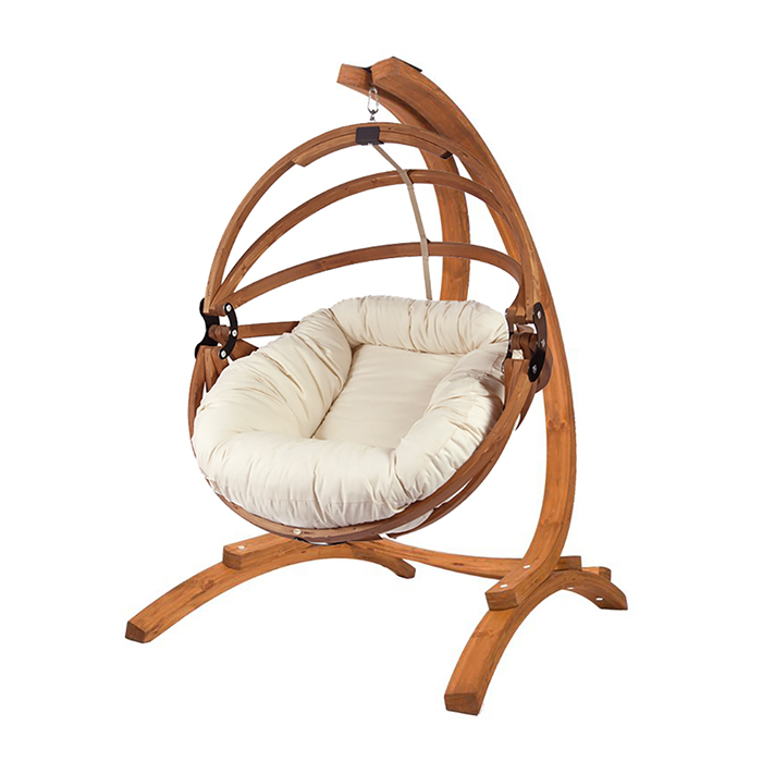 spinnaker-stand wih- gaya-large-wooden-chair- polyester-cushion
