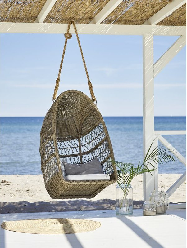 Outdoor Swing Basket-Chair on the Beach Evelyn sika design