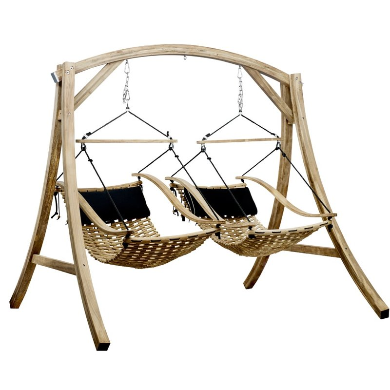 Hammons Teak Porch Swing-with Stand double for two person
